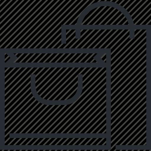 bag, gift, line, pixel icon, shopping, thin icon