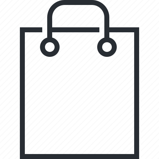 bag, line, pixel icon, retail, shopping, thin icon