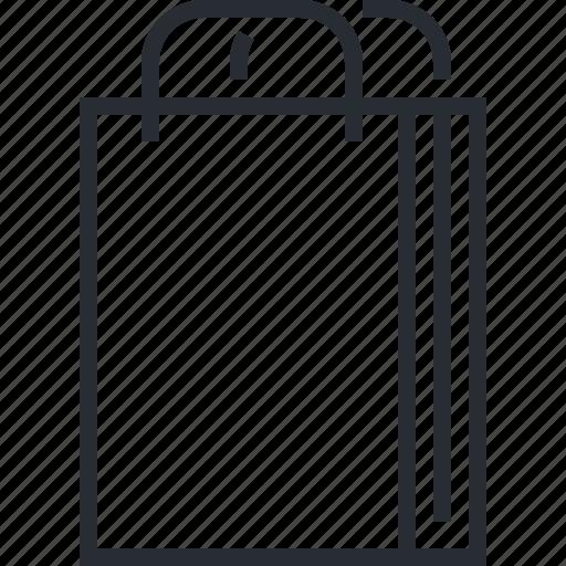 bag, line, media, pixel icon, shopping, social, thin icon
