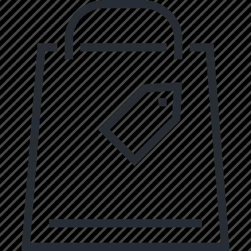 bag, line, pixel icon, shopping, store, thin icon