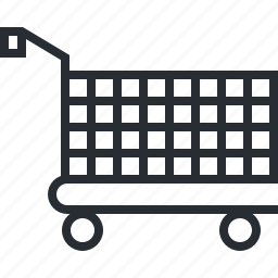 add, cart, line, pixel icon, shopping, thin icon