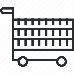 cart, line, pixel icon, retail, shopping, thin icon
