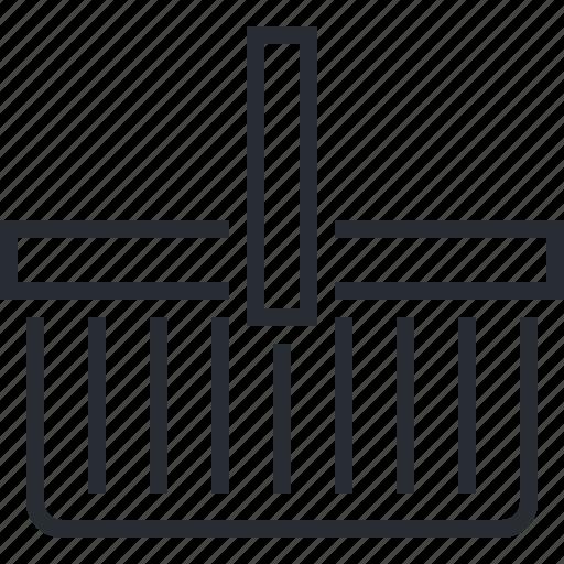basket, line, pixel icon, retail, shopping, store, thin icon