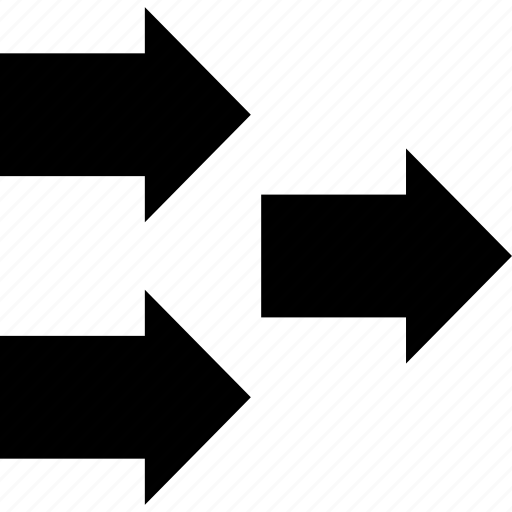 arrows, business, forward, money, online, three icon