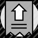 arrow, click, point, pointer, receipt icon