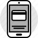 card, credit, mobile, pay, phone icon