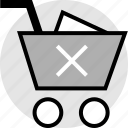 cart, cross, delete, item, shopping, stop icon