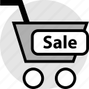 cart, sale, shop, shopping, sign icon