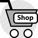 add, cart, ecommerce, funds, pay, shop icon