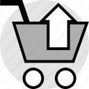 arrow, cart, delte, restore, shopping icon
