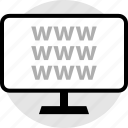 monitor, online, pc, web, www icon