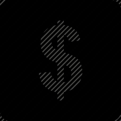 dollar, money, online, shopping, sign icon