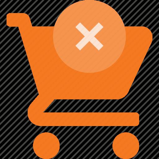 action, buy, cart, disable, error, shop, store icon