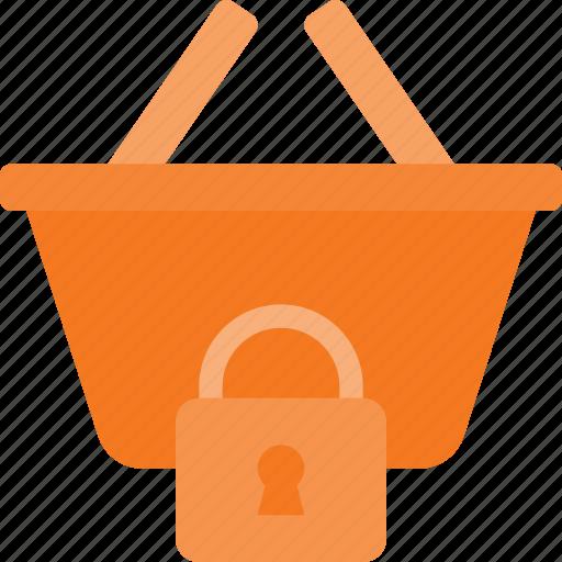action, basket, buy, lock, shop, shopping icon