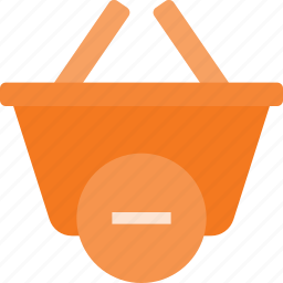 action, basket, buy, minus, remove, shop, shopping icon