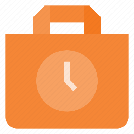action, bag, buy, delay, paper, shopping, time icon