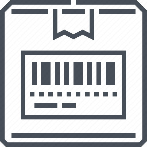 barcode, box, buy, delivery, parcel, shipment, tracking icon