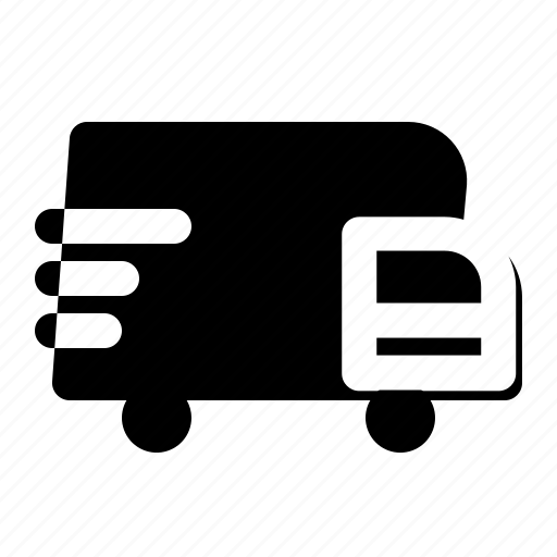 car, courier, delivery, package, truck icon