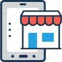 banking, building, m commerce, mobile, wireless banking icon