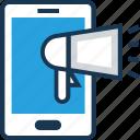 advert, announcement, marketing, mobile, smartphone