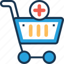 add to cart, cart, ecommerce, shopping, trolley icon