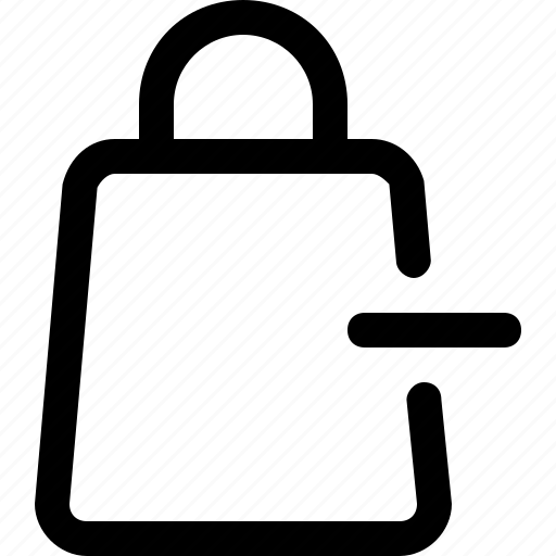 bag, minus, payment, purchase, remove, shop, shopping icon