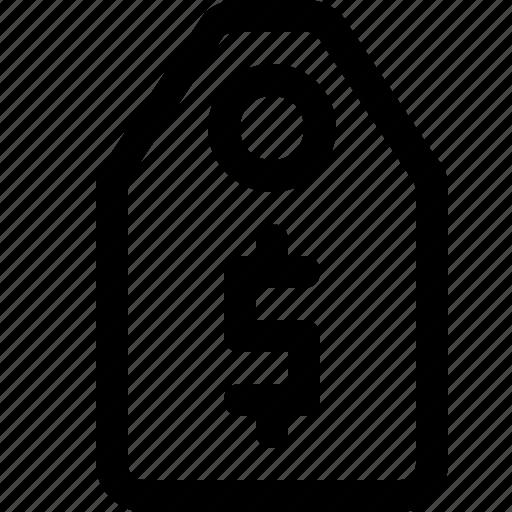 dollar, label, tag icon