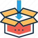box, cardboard box, dropbox, package, parcel icon