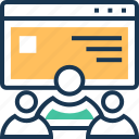 group, page, team, web page, web traffic icon
