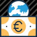 banknote, euro, european, shopping, worldwide icon