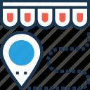 distance, map pin, navigation, shop distance, travel