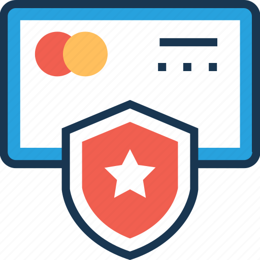 atm card, secure card, security, shield, star icon