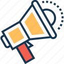 advert, bullhorn, commercial, loud hailer, megaphone icon