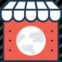 earth, map, market, shop icon