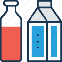dairy food, dry milk, liquor food, milk, milk bottle icon