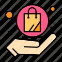 bag, hand, online, shopping