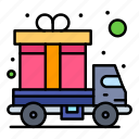 cargo, delivery, gift, truck