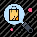 bag, search, shopping