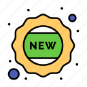 badge, new, sticker