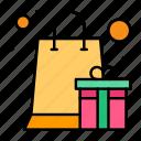 box, gift, heart, present, reward