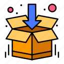 box, delivery, open, shopping