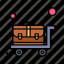 cart, luggage, trolley, wheelbarrow