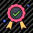 award, badge, guaranteed, label, quality icon