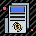 bill, document, money, paper