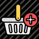 add, add product, add to bucket, add to hamper, bucket, ecommerce, shopping icon