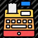 cash, cash register, cash till, invoice machine, point of sale, pos, register icon