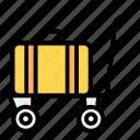 cart, handcart, luggage, luggage cart, luggage trolley, pallet truck icon