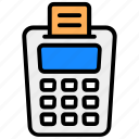 cash till, invoice machine, point, point of sale, point of service, pos, service icon