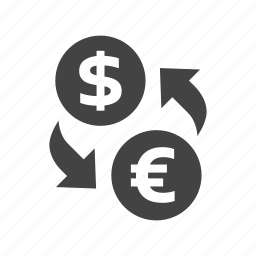 commerce, currency, currency convert, finance, money, shopping icon