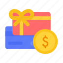 bonus, card, cards, gift, money, rewards icon